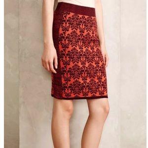 Anthropologie Moth Jacquard Sweaterknit Skirt